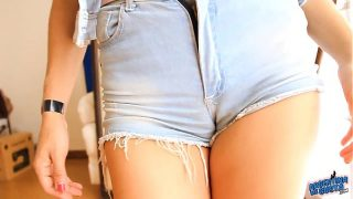 Most Perfect Ass Teen! In Ultra Tight Denim Shorts! OMG!!